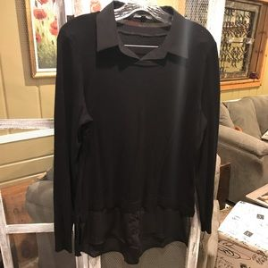 Adrianna Papell Sweater with faux blouse.